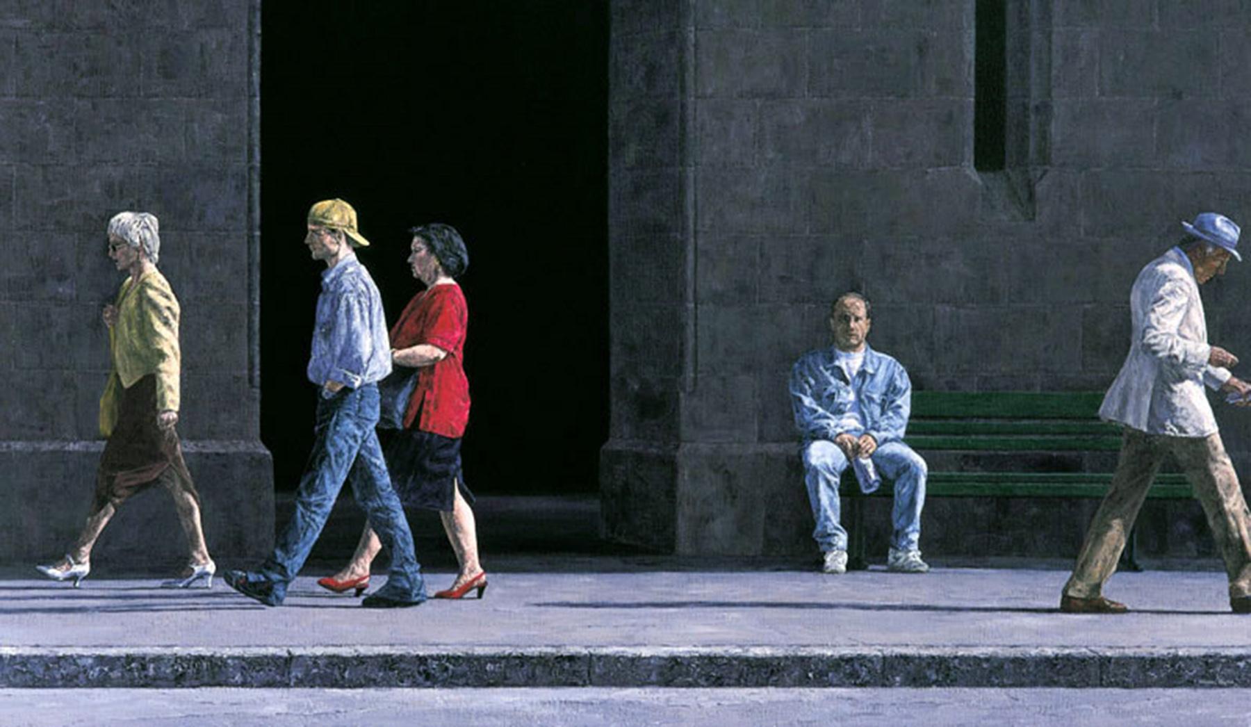 LES PASSANTS, 1998, 100x172